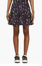 KENZO Black Embroidered Palm Tree Skirt for women