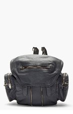 ALEXANDER WANG Grey Leather Mesh Marti Convertible backpack for women