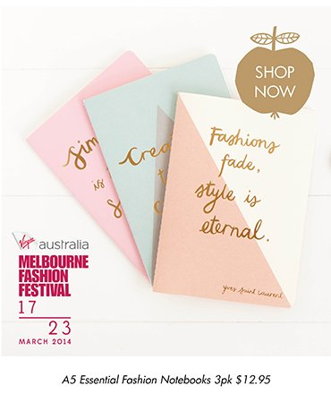 A5 Essential Fashion Notebook 3pk  SHOP NOW >>