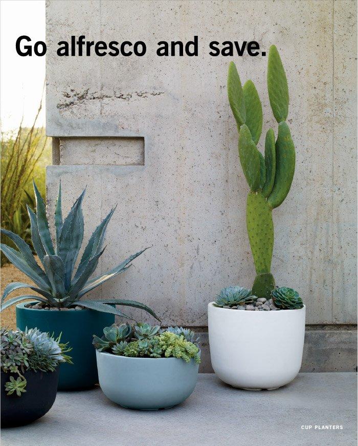 Go alfresco and save.