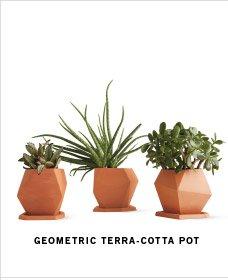GEOMETRIC TERRA-COTTA POT