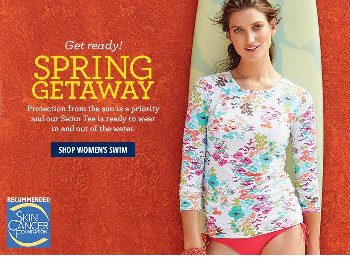 Get Ready!Spring GetawayShop Women's Swim