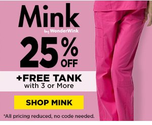25% Off Mink plus Free Tank with 3 or more - Shop Mink