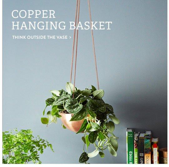 Copper Hanging Basket