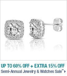 Up to 60% off + Extra 15% off Semi-Annual Jewelry & Watches Sale**