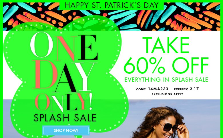 St. Patrick's Day Splash SALE