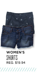 WOMEN'S SHORTS REG. $19.94