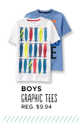 BOYS GRAPHIC TEES REG. $9.94
