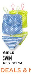 GIRLS SWIM REG. $12.94