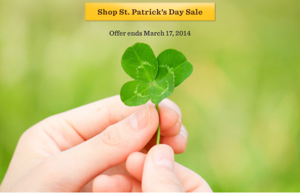Shop St. Patrick's Day Sale. Offer ends March 17, 2014.
