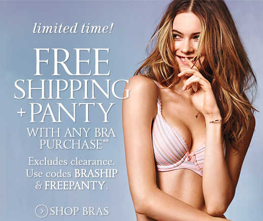 Free Shipping + Panty With Any Bra Purchase
