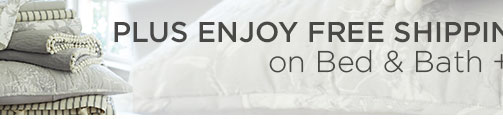 free shipping on bed and bath
