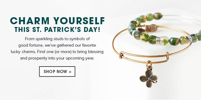 Charm yourself this St. Patrick's Day. From sparkling studs to symbols of good fortune, we've gathered our favorite lucky charms. Find one (or more) to bring blessing & prosperity into your upcoming year. Shop now.