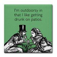 Drunk on Patios Coaster
