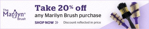 20% off Marilyn Brush