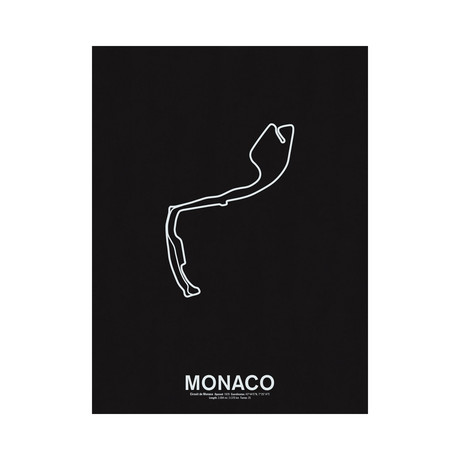Circuit De Monaco // Screenprint