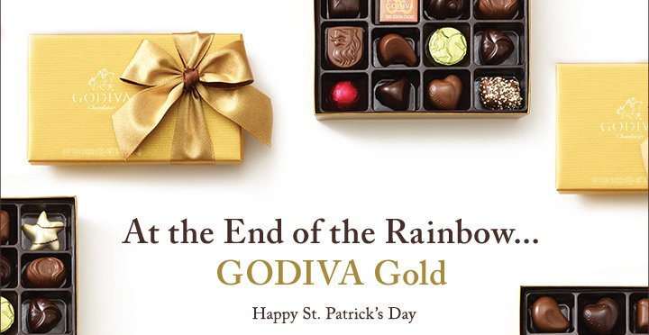 At the End of the Rainbow...GODIVA GOLD