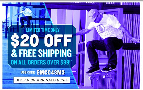 Limited Time Only! $20 Off + Free Shipping on orders over $99!*