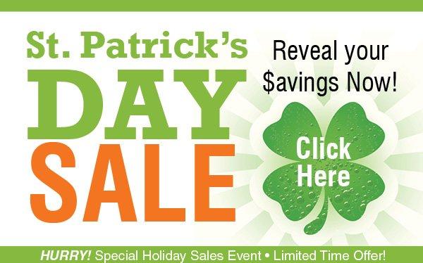 Saint Patricks Day Sale!
