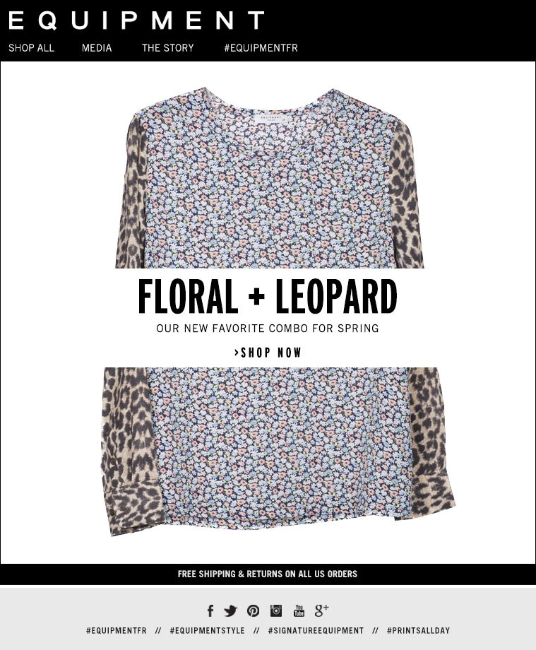 FLORAL + LEOPARD OUR NEW FAVORITE COMBO FOR SPRING >SHOP NOW