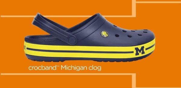 crocband Michigan clog