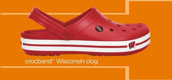 crocs Wisconsin clog