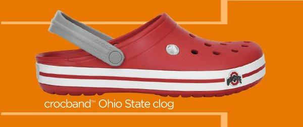 crocband Ohio State clog