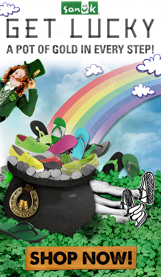 GET LUCKY - A POT OF GOLD IN EVERY STEP!