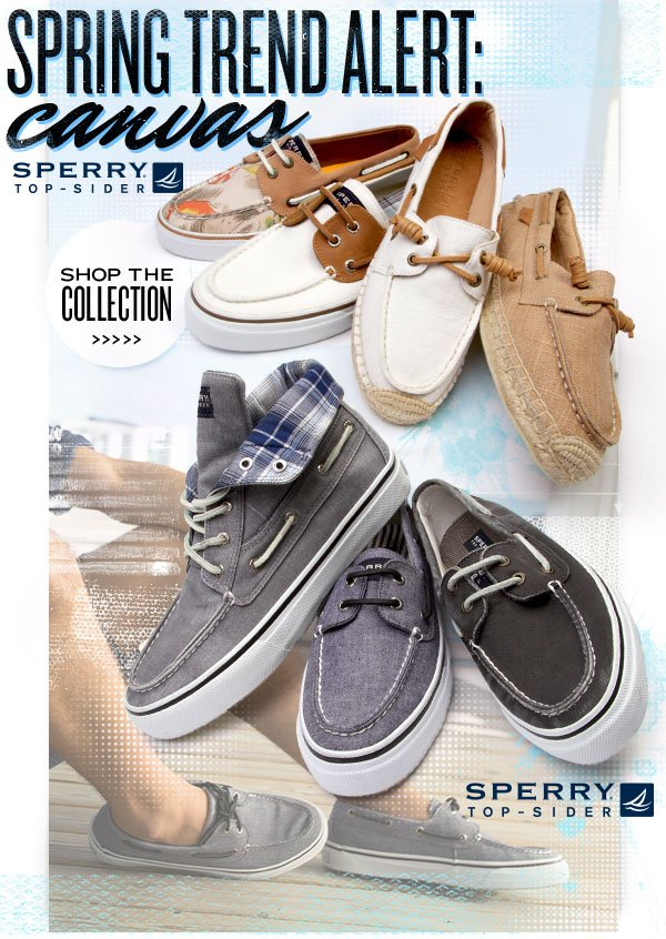 Spring Trend Alert: Sperry Top-Sider Canvas