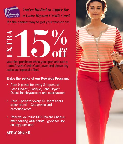 You're Invited to Apply for a Lane Bryant Credit Card