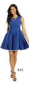 PINK TARTAN - Colbalt Daisy Dress
