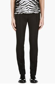 SAINT LAURENT Black Pleated Classic Trousers for men