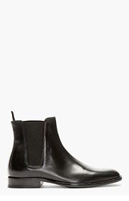 SAINT LAURENT Black Leather Chelsea Boots for men