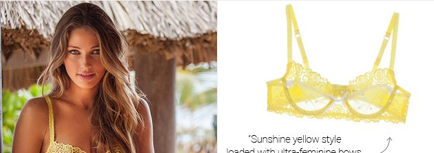 Sunshine yellow style loaded with ultra-feminine bows