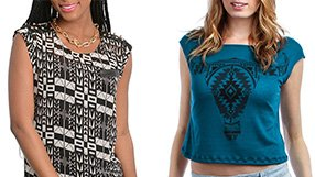 Stylist Pick: graphic & print tops