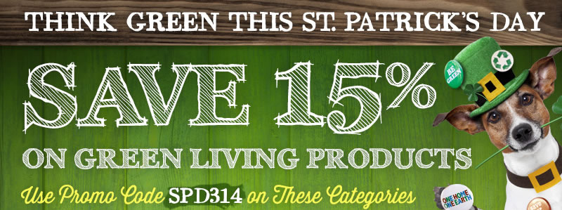 Save 15% Off Select Green Living Categories