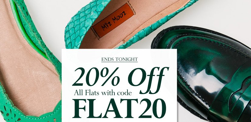 20% Off All Flats with code FLAT20