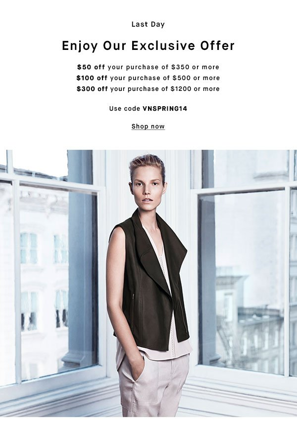 Last Day - ENJOY OUR EXCLUSIVE OFFER - Shop now
