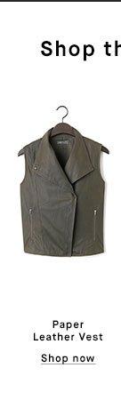 Paper Leather Vest - Shop now