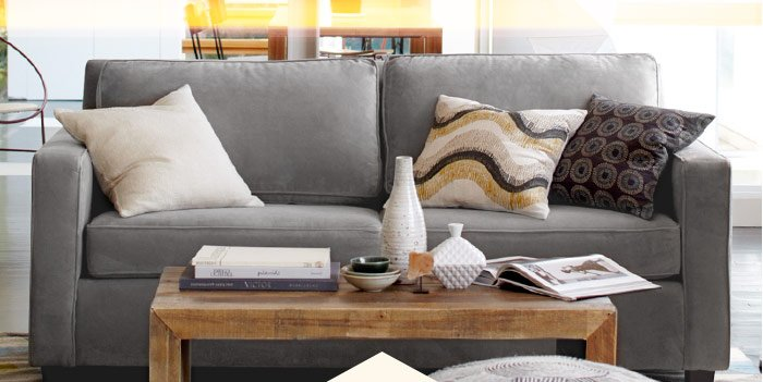 20% off best-selling sofas*. Save 'til tonight