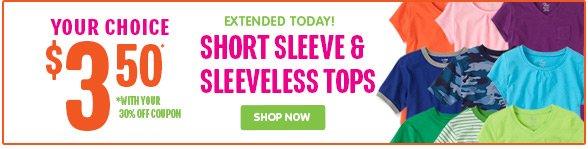 YOUR CHOICE Short Sleeve & Sleeveless Tops