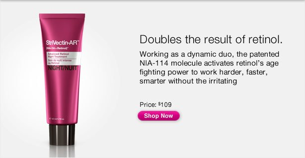 Doubles the result of retinol.