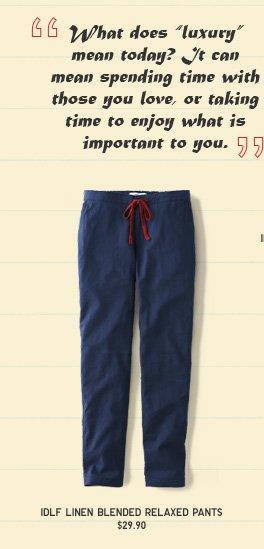 INES LINEN BLENDED PANTS