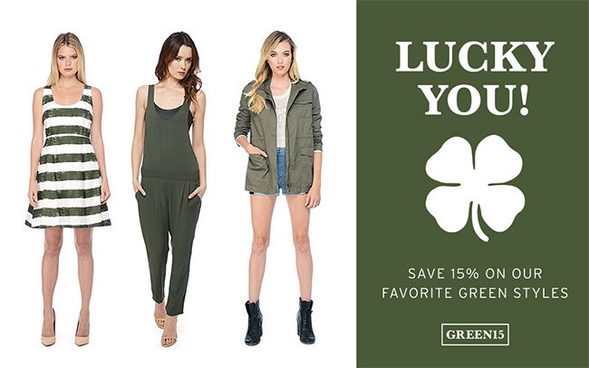 lucky you | 15% Off Green Styles