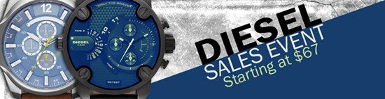 Save up to 38% during the Diesel watches sales event