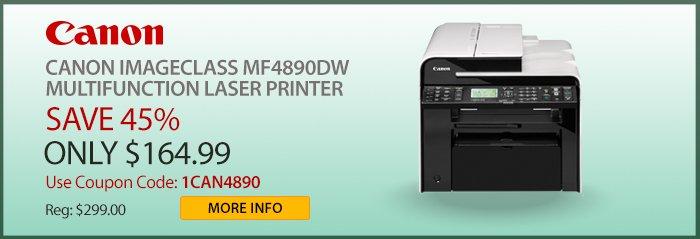 Adorama - Canon Imageclass 4890DW Laser Printer