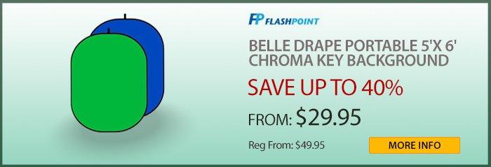 Adorama - Belle Drape Chrome Backgrounds