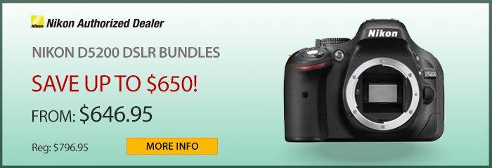 Adorama - Nikon D5200 DSLR Bundles