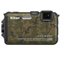 Adorama - Nikon Coolpix AW100 Digital Camera, Camouflage - Refurbished