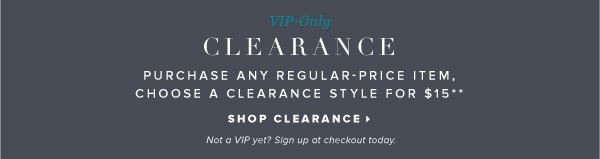 Shop Clearance: